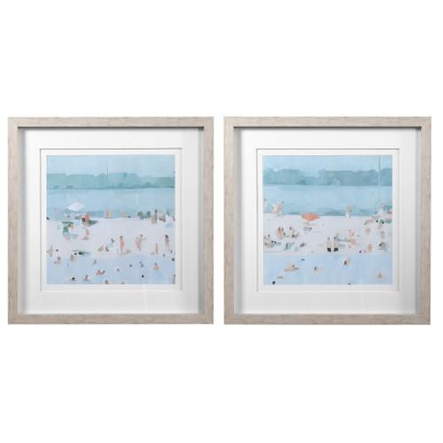 Uttermost Sea Glass Sandbar Framed Prints, Set/2