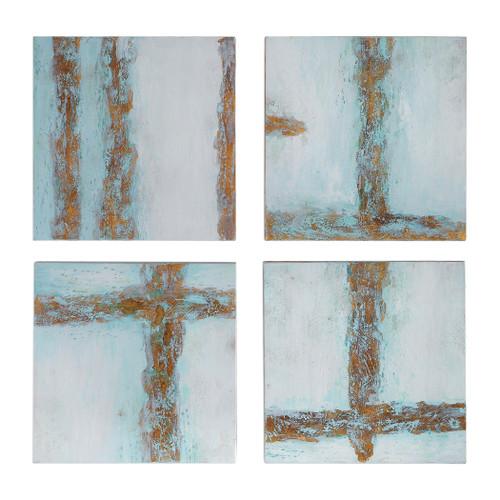 Uttermost Cross Roads Contemporary Art Set/4 by Grace Feyock