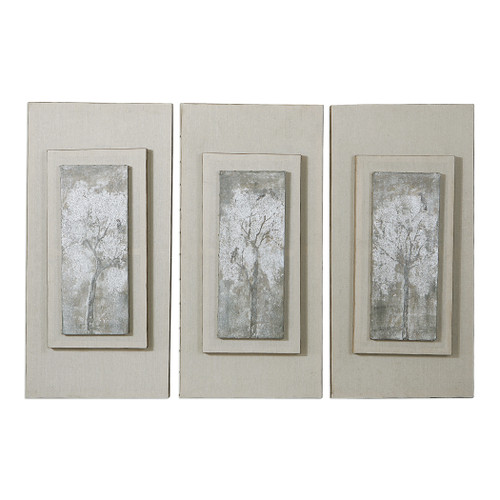 Uttermost Triptych Trees Hand Painted Art Set/3 by Carolyn Kinder