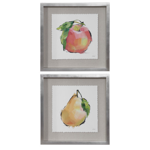 Uttermost Designer Fruits Framed Prints, Set/2