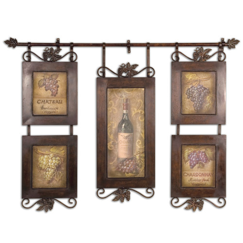 Uttermost Hanging Wine Framed Art by Grace Feyock