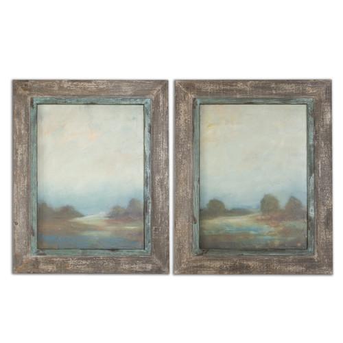 Uttermost Morning Vistas Framed Art, S/2