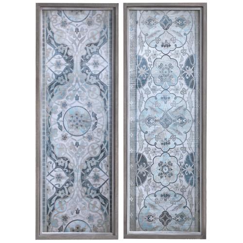 Uttermost Vintage Persian Panels Framed Prints, Set/2
