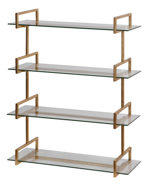 Uttermost Auley Gold Wall Shelf by Jim Parsons