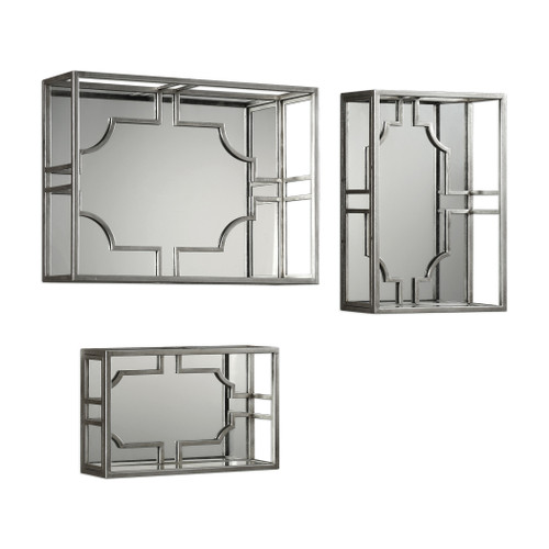 Uttermost Adoria Silver Wall Shelves S/3 by Grace Feyock