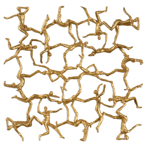 Uttermost Golden Gymnasts Wall Art by Billy Moon
