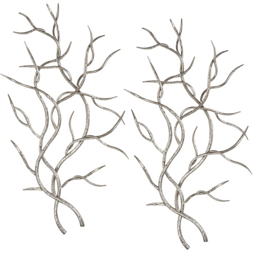 Uttermost Silver Branches Wall Art S/2 by Grace Feyock