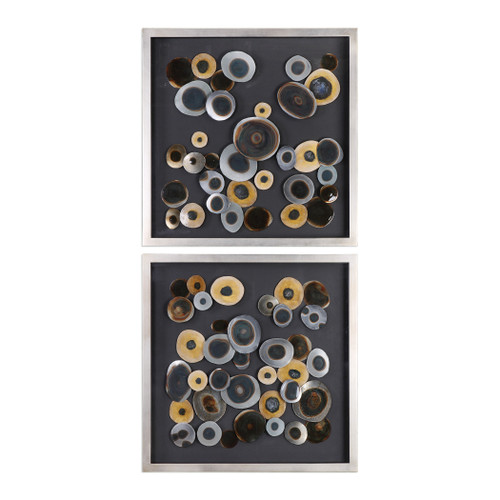Uttermost Discs Wall Art Squares S/2 by Jim Parsons