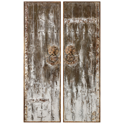 Uttermost Giles Aged Wood Wall Art, S/2 by Carolyn Kinder