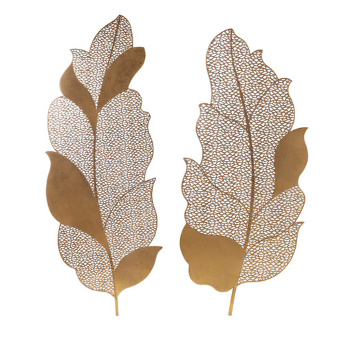 Uttermost Autumn Lace Leaf Wall Art, S/2 by Grace Feyock