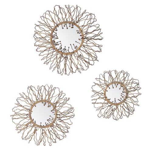 Uttermost Elin Mirrored Wall Decor, Set/3 by Renee Wightman