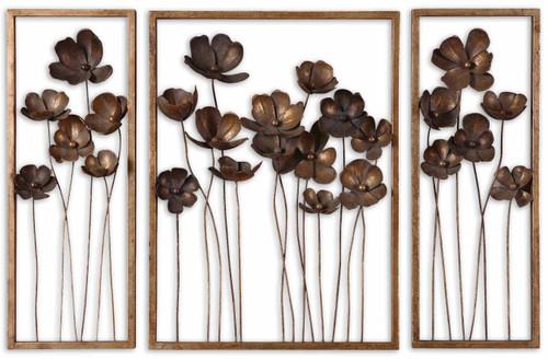 Uttermost Metal Tulips Wall Art Set/3 by Grace Feyock