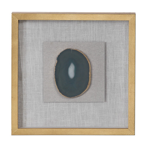 Uttermost Keeva Agate Stone Shadow Box by Grace Feyock
