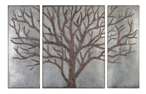 Uttermost Winter View Rustic Tree Mirror Set/3 by Grace Feyock