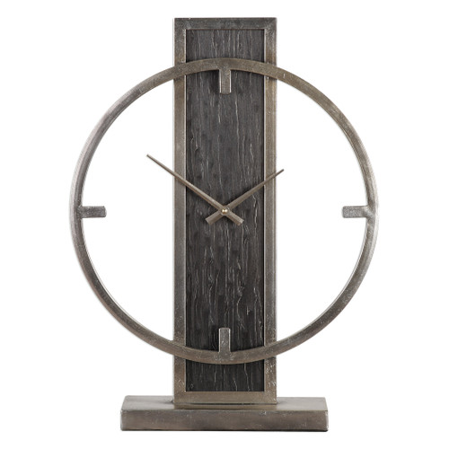 Uttermost Nico Modern Desk Clock by Grace Feyock