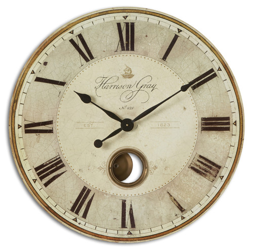 "Uttermost Harrison Gray 30"" Clock"