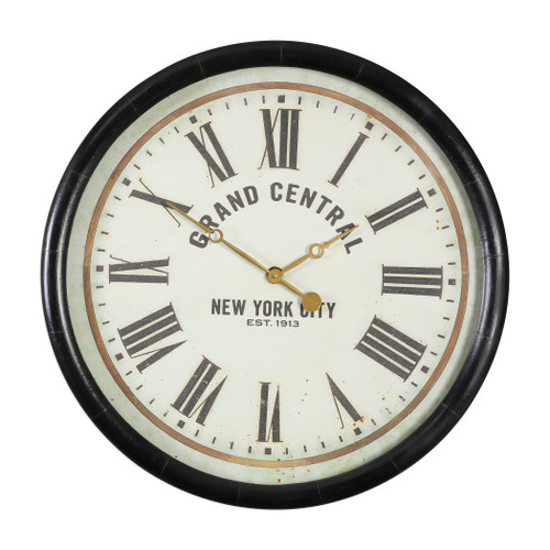 "Uttermost Leonor ""Grand Central"" Wall Clock by John Kowalski"