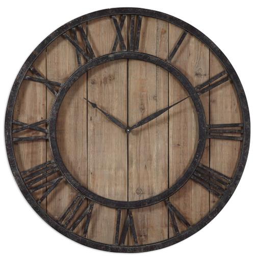 Uttermost Powell Wooden Wall Clock by Grace Feyock
