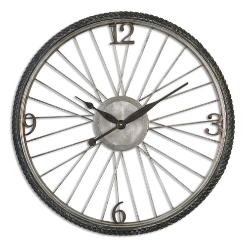 Uttermost Spokes Aged Wall Clock by Billy Moon