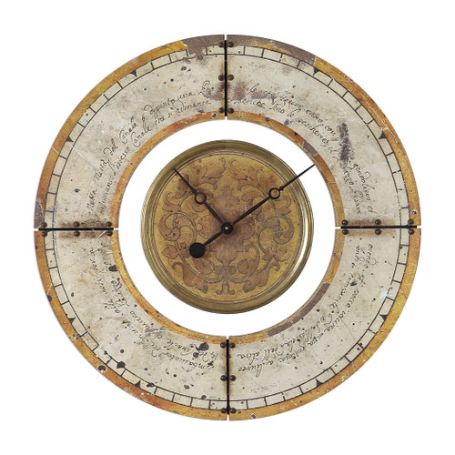 Uttermost Ezekiel Weathered Wall Clock by John Kowalski