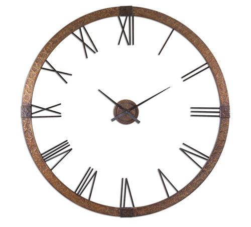 "Uttermost Amarion 60"" Copper Wall Clock by Carolyn Kinder"