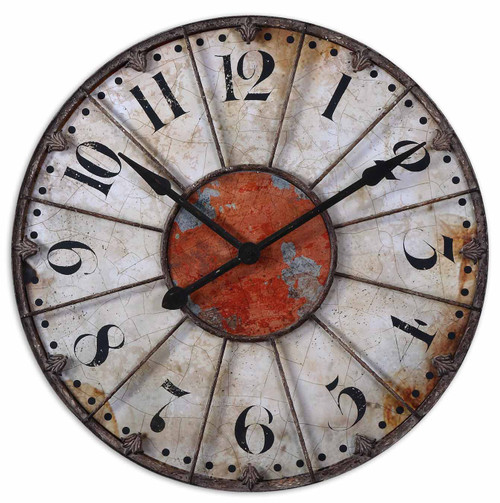 "Uttermost Ellsworth 29"" Wall Clock by Billy Moon"