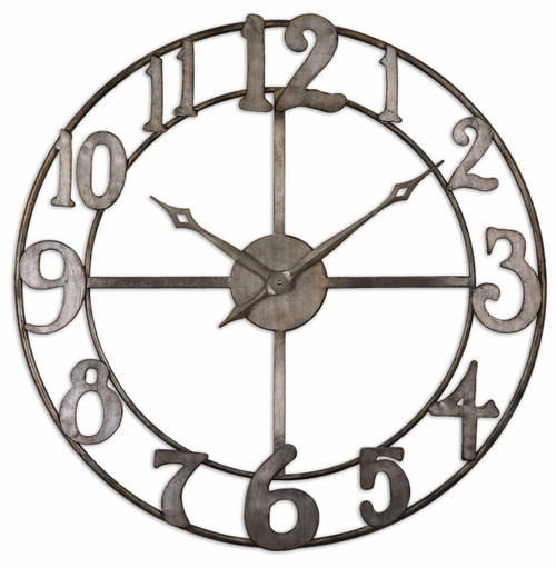 "Uttermost Delevan 32"" Metal Wall Clock by Grace Feyock"