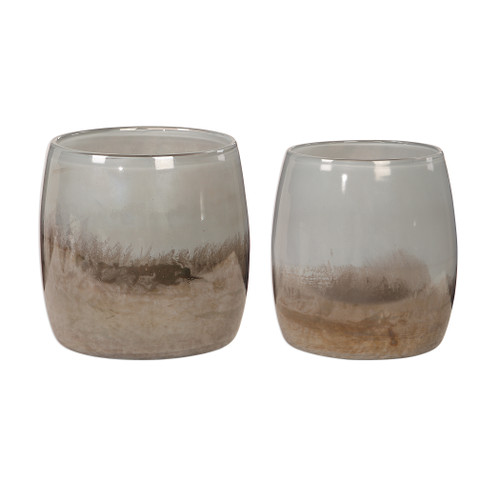 Uttermost Tinley Blown Glass Bowls, S/2 by Carolyn Kinder
