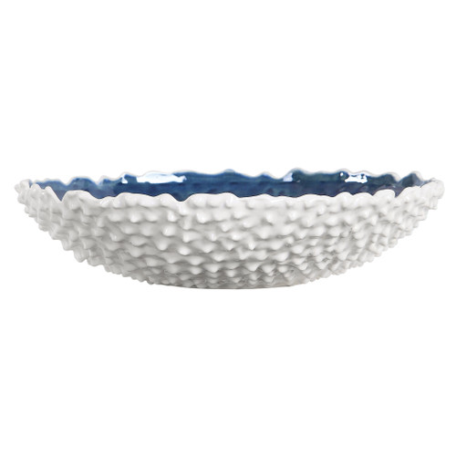 Uttermost Ciji White Bowl by Renee Wightman