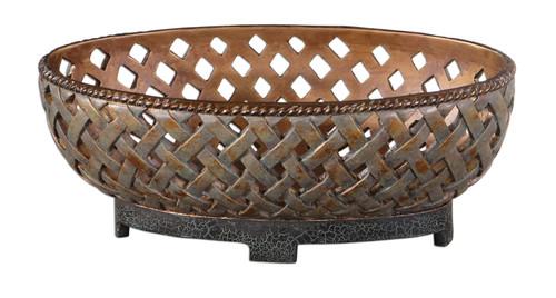 Uttermost Teneh Lattice Weave Design Bowl by Carolyn Kinder