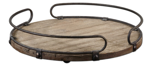 Uttermost Acela Round Wine Tray by Matthew Williams