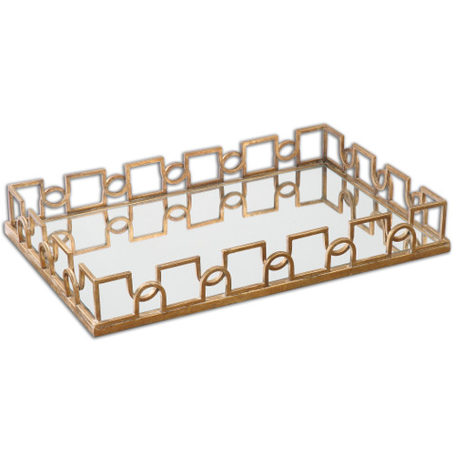 Uttermost Nicoline Mirrored Tray by Grace Feyock