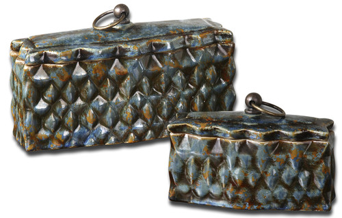 Uttermost Neelab Ceramic Containers, Set/2 by Billy Moon