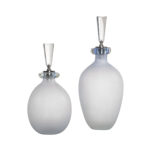 Uttermost Leah Bubble Glass Containers S/2 by Carolyn Kinder
