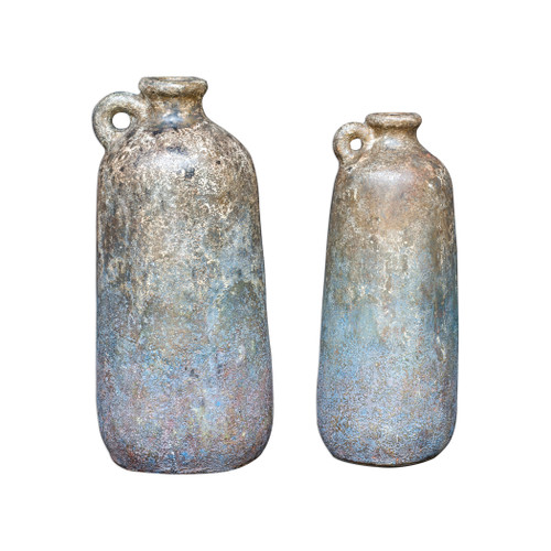 Uttermost Ragini Terracotta Bottles, S/2 by Billy Moon