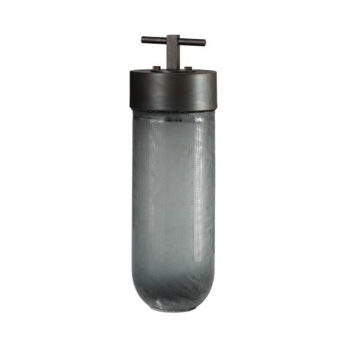 Uttermost Virika Etched Gray Glass Jar by Matthew Williams