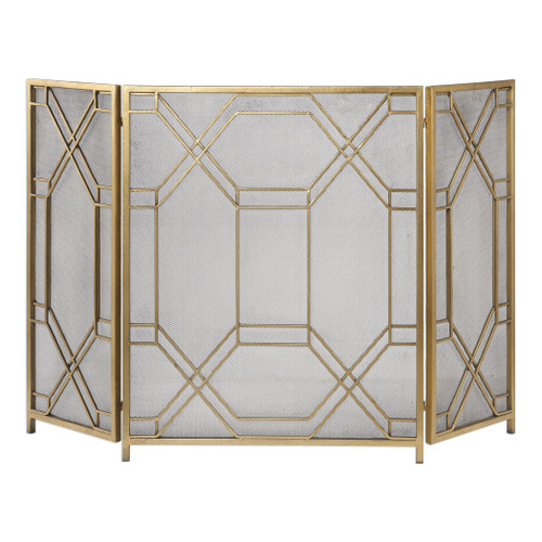 Uttermost Rosen Gold Fireplace Screen by Grace Feyock