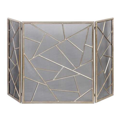 Uttermost Armino Modern Fireplace Screen by Jim Parsons