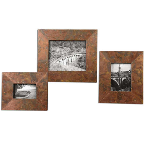 Uttermost Ambrosia Copper Photo Frames S/3 by Grace Feyock