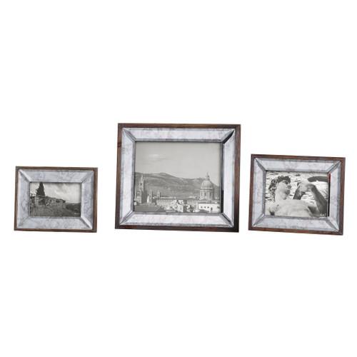 Uttermost Daria Antique Mirror Photo Frames S/3 by Steve Kowalski