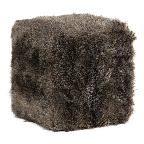 Uttermost Jayna Fur Ottoman by Grace Feyock