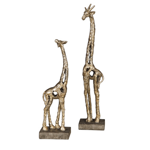 Uttermost Masai Giraffe Figurines, S/2 by Grace Feyock
