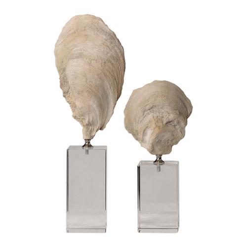 Uttermost Oyster Shell Sculptures, S/2