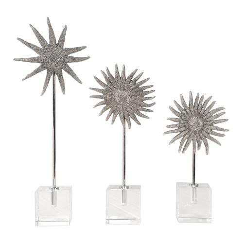 Uttermost Sunflower Starfish Sculptures, S/3 by David Frisch