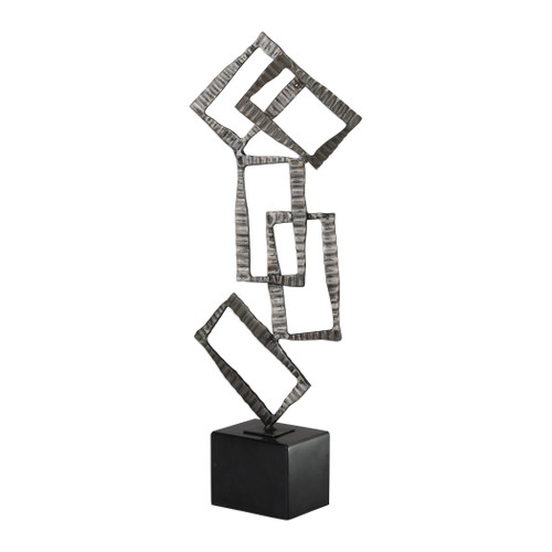 Uttermost Talal Brushed Nickel Sculpture by Jim Parsons