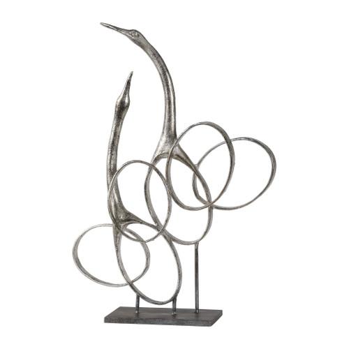 Uttermost Admiration Silver Bird Sculpture by Matthew Williams