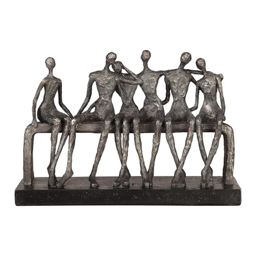 Uttermost Camaraderie Aged Silver Figurine by Billy Moon