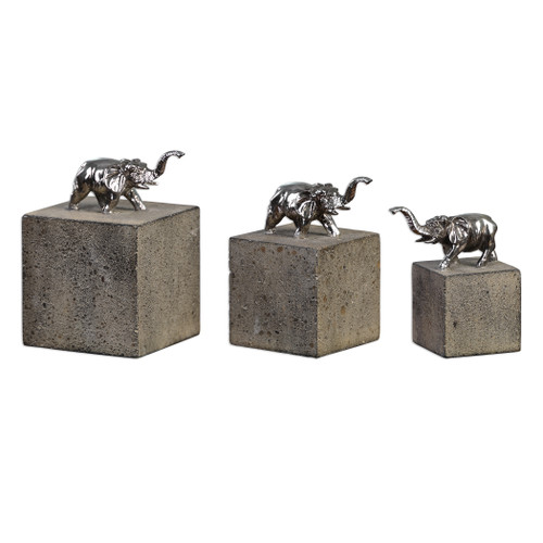 Uttermost Tiberia Elephant Sculpture S/3 by David Frisch