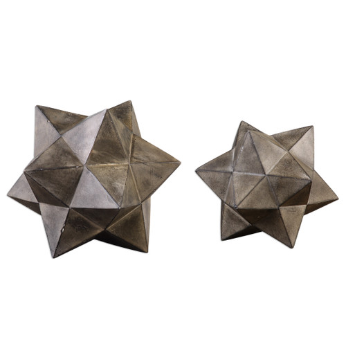 Uttermost Stars Concrete Sculpture Set/2 by David Frisch