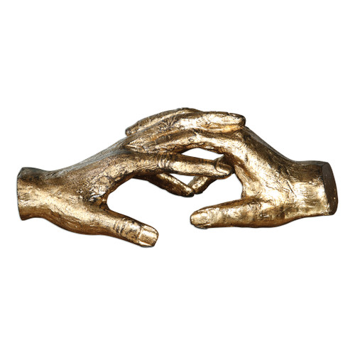 Uttermost Hold My Hand Gold Sculpture by Matthew Williams